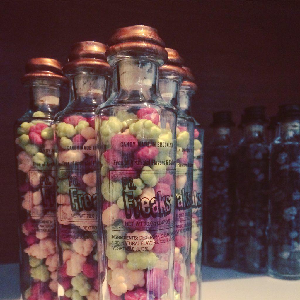 freaks in bottles closeup
